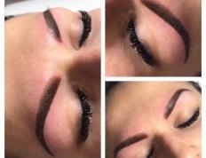 Makijaż permanentny brwi przed po